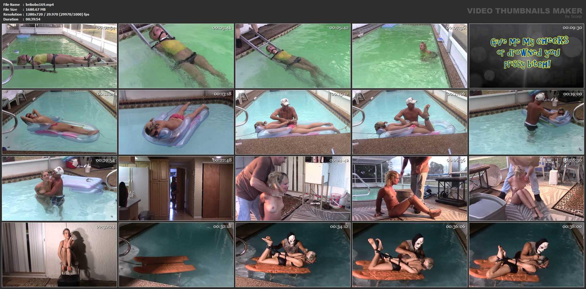 [BRIELLASBONDAGEBOUTIQUE] Underwater Perilous Pool Collection. Featuring: Briella Jaden [HD][720p][MP4]