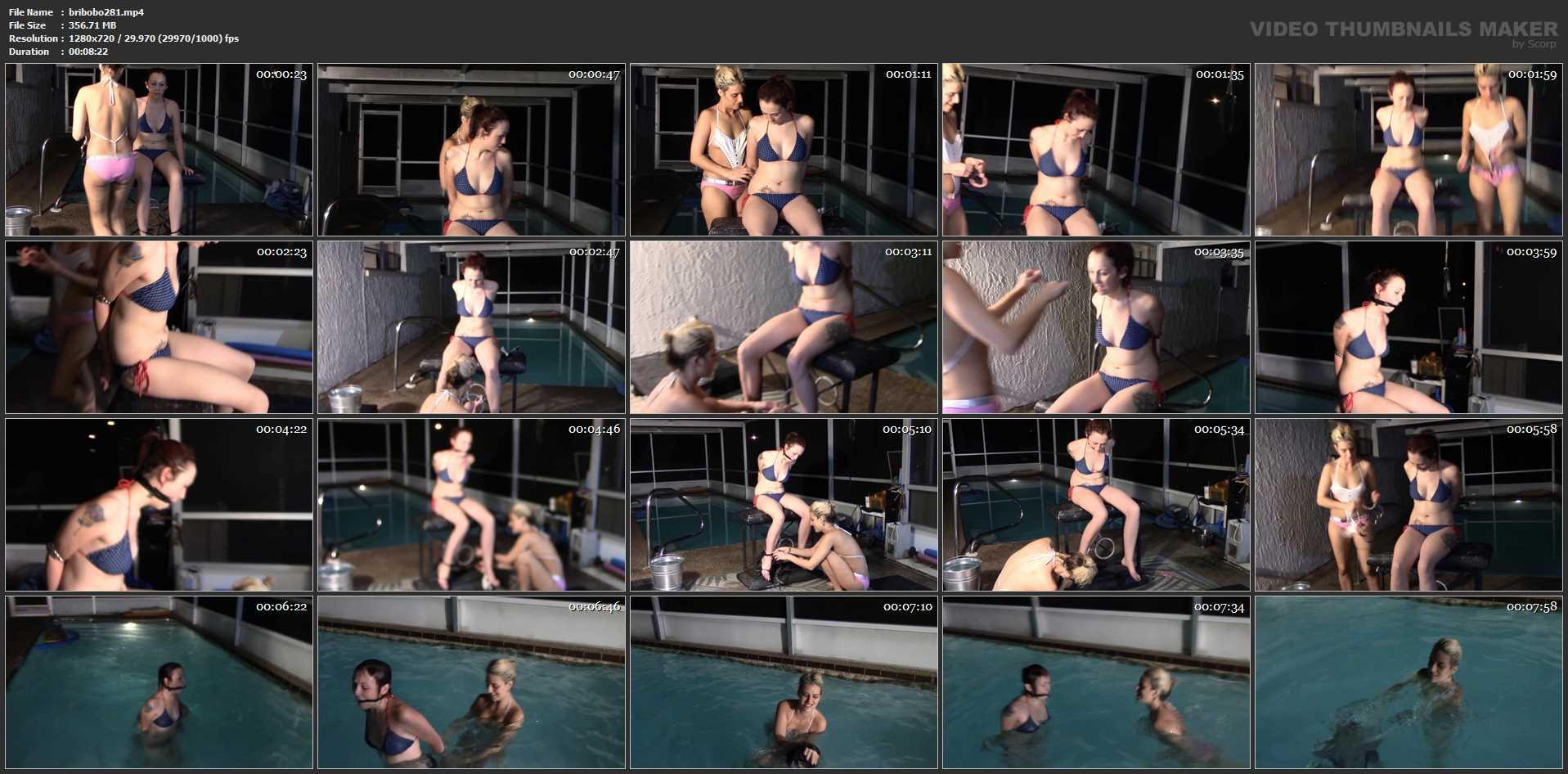 [BRIELLASBONDAGEBOUTIQUE] Sophie Can't Swim In Cuffs. Featuring: Sophie Sweets, Briella Jaden [HD][720p][MP4]