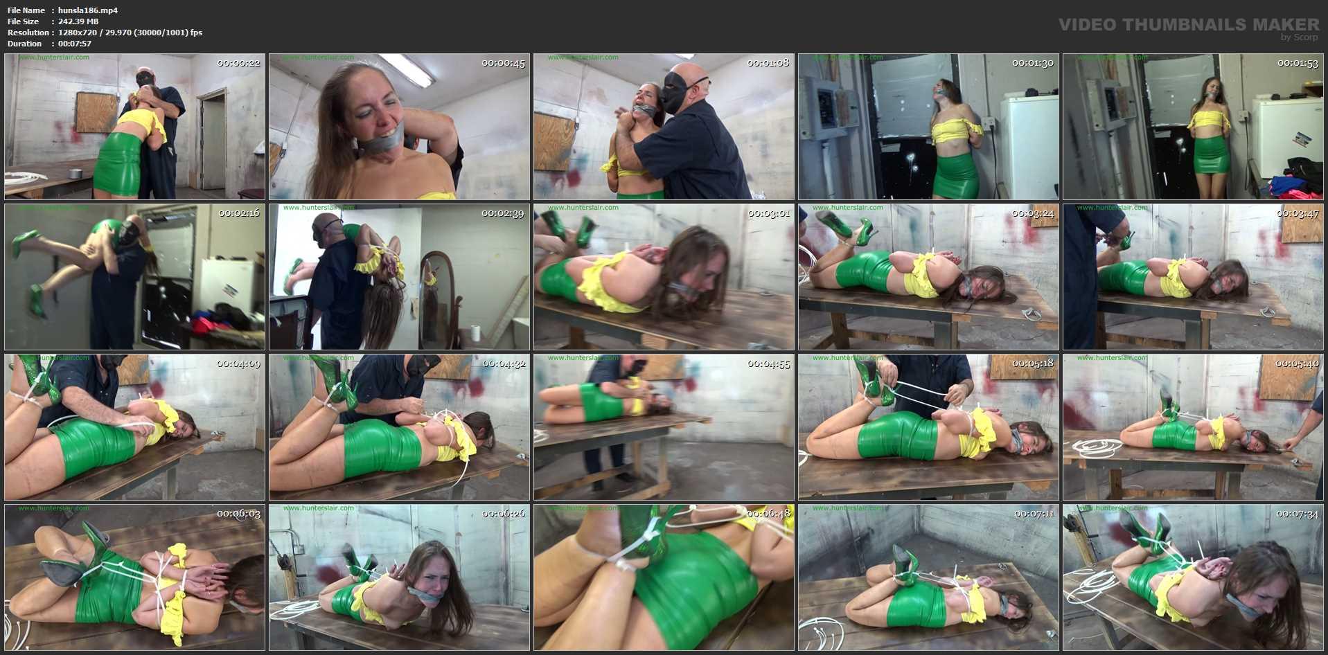 [HUNTERSLAIR] Bound in brutal zipties she tried to escape. Featuring: Rachel Adams [HD][720p][MP4]