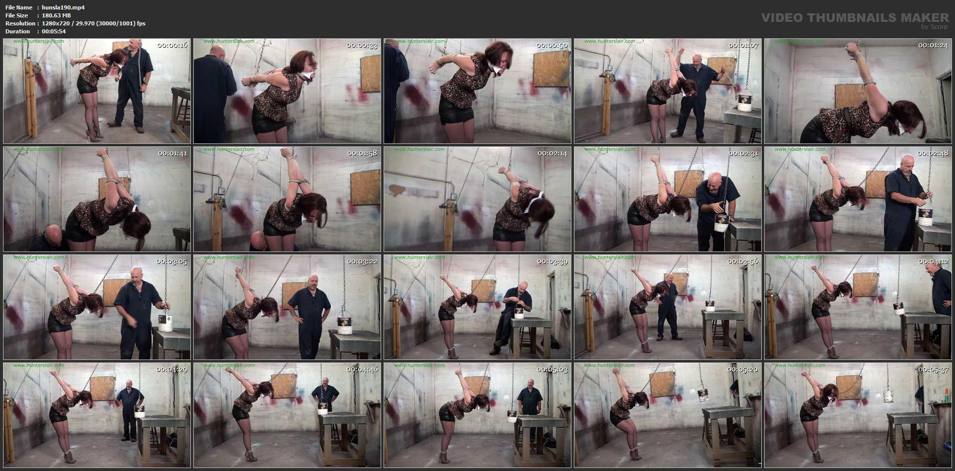 [HUNTERSLAIR] Strappado neck stretch peril. Featuring: Launa Lane [HD][720p][MP4]