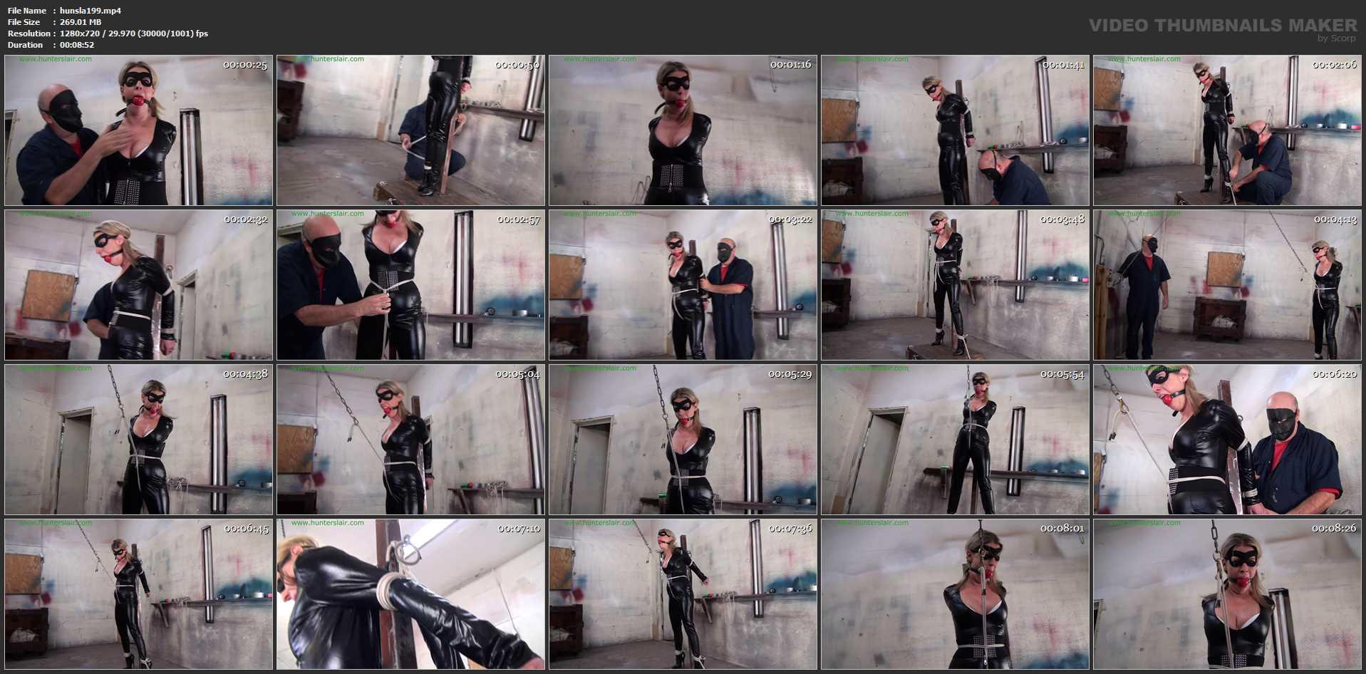 [HUNTERSLAIR] Crotch rope interrorgation. Featuring: Roxie Rae [HD][720p][MP4]