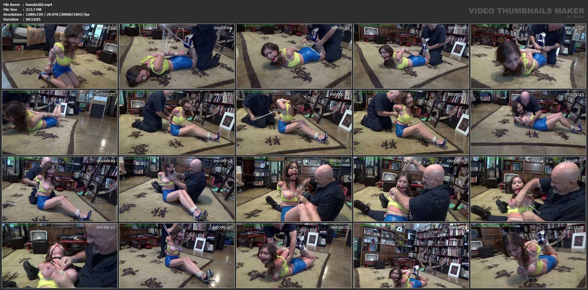 [HUNTERSLAIR] Cruel breast bound chicken wing hogtie. Featuring: Chrissy Marie [HD][720p][MP4]