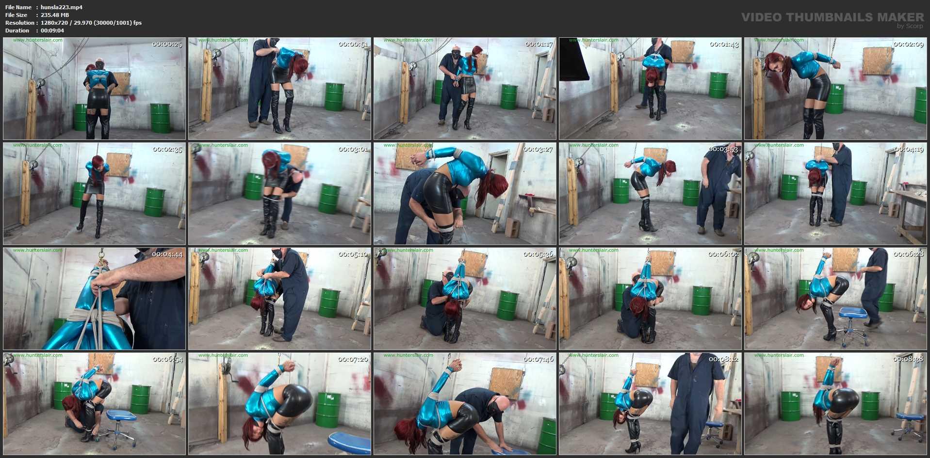 [HUNTERSLAIR] Booted Brazilians brutal strappado. Featuring: Stefania Mafra [HD][720p][MP4]