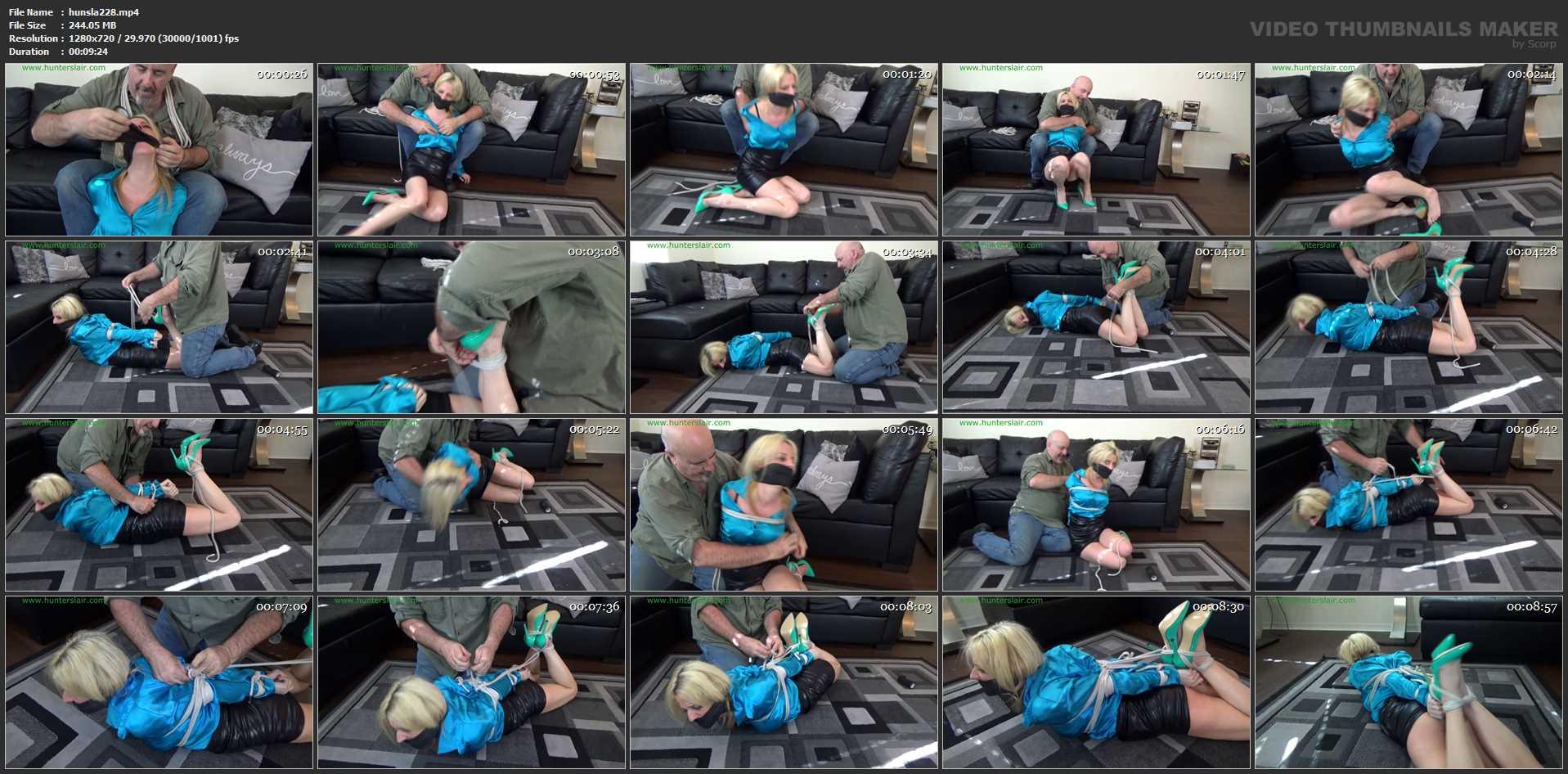 [HUNTERSLAIR] Haughty blond brat hogtied and helpless. Featuring: Roxie Rae [HD][720p][MP4]