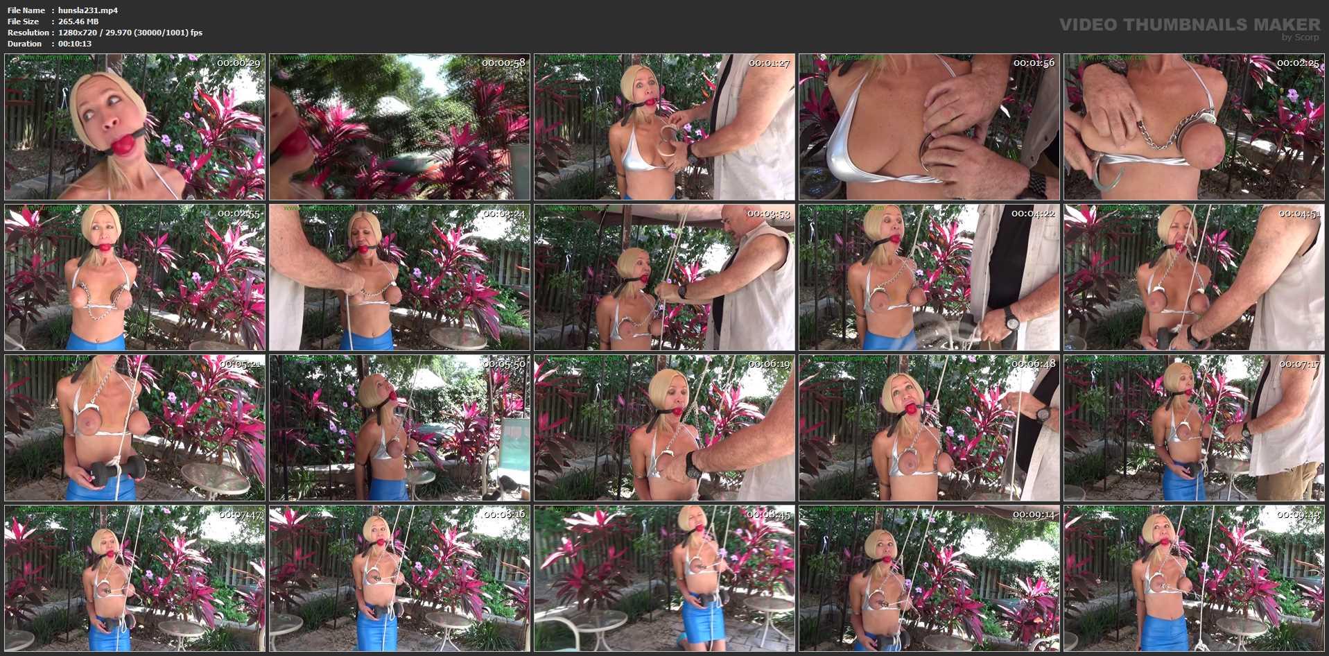 [HUNTERSLAIR] Breast bound predicament in the garden. Featuring: Amanda Foxx [HD][720p][MP4]