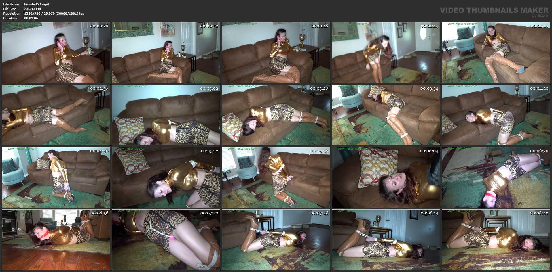 [HUNTERSLAIR] The giggling girls hogtied their babysitter. Featuring: Ren Smolder [HD][720p][MP4]