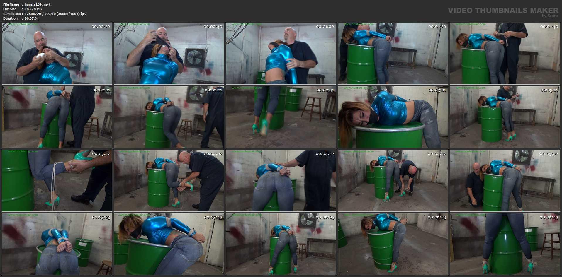 [HUNTERSLAIR] Hot booty Latina bound over a barrel. Featuring: Sahrye [HD][720p][MP4]