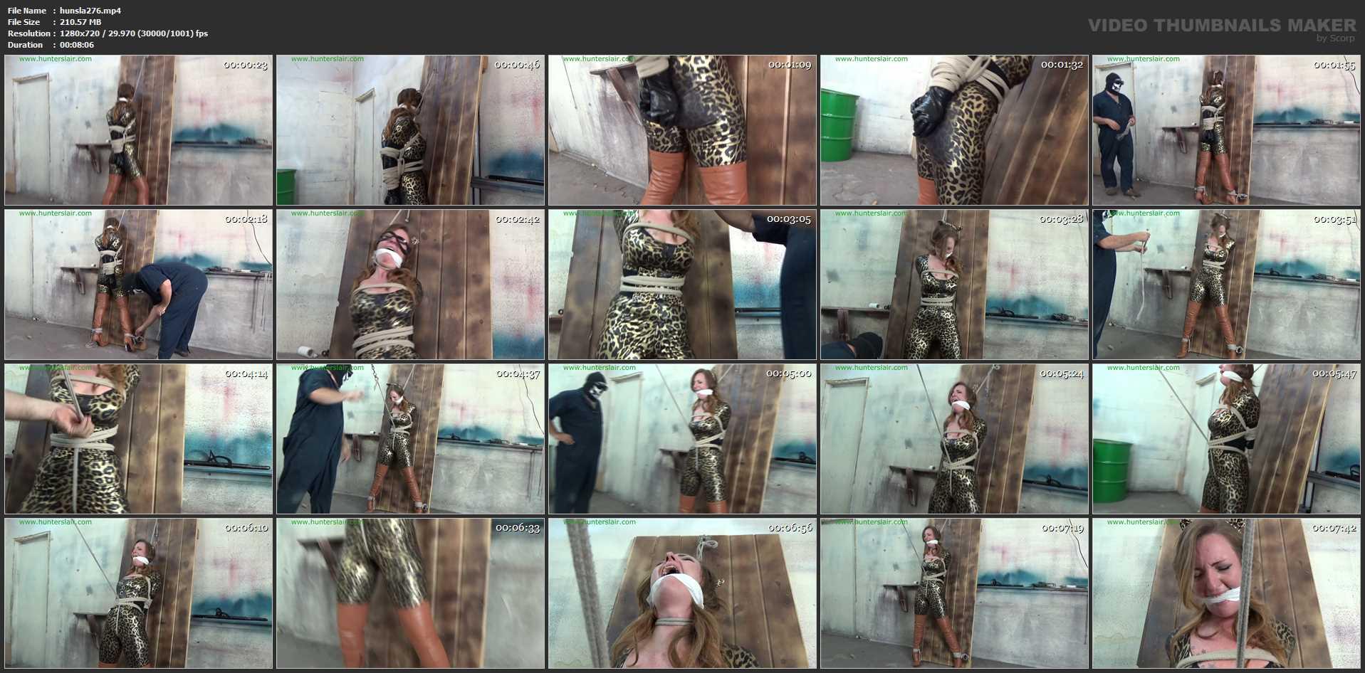 [HUNTERSLAIR] Crotch roped interrogation. Featuring: Launa Lane [HD][720p][MP4]