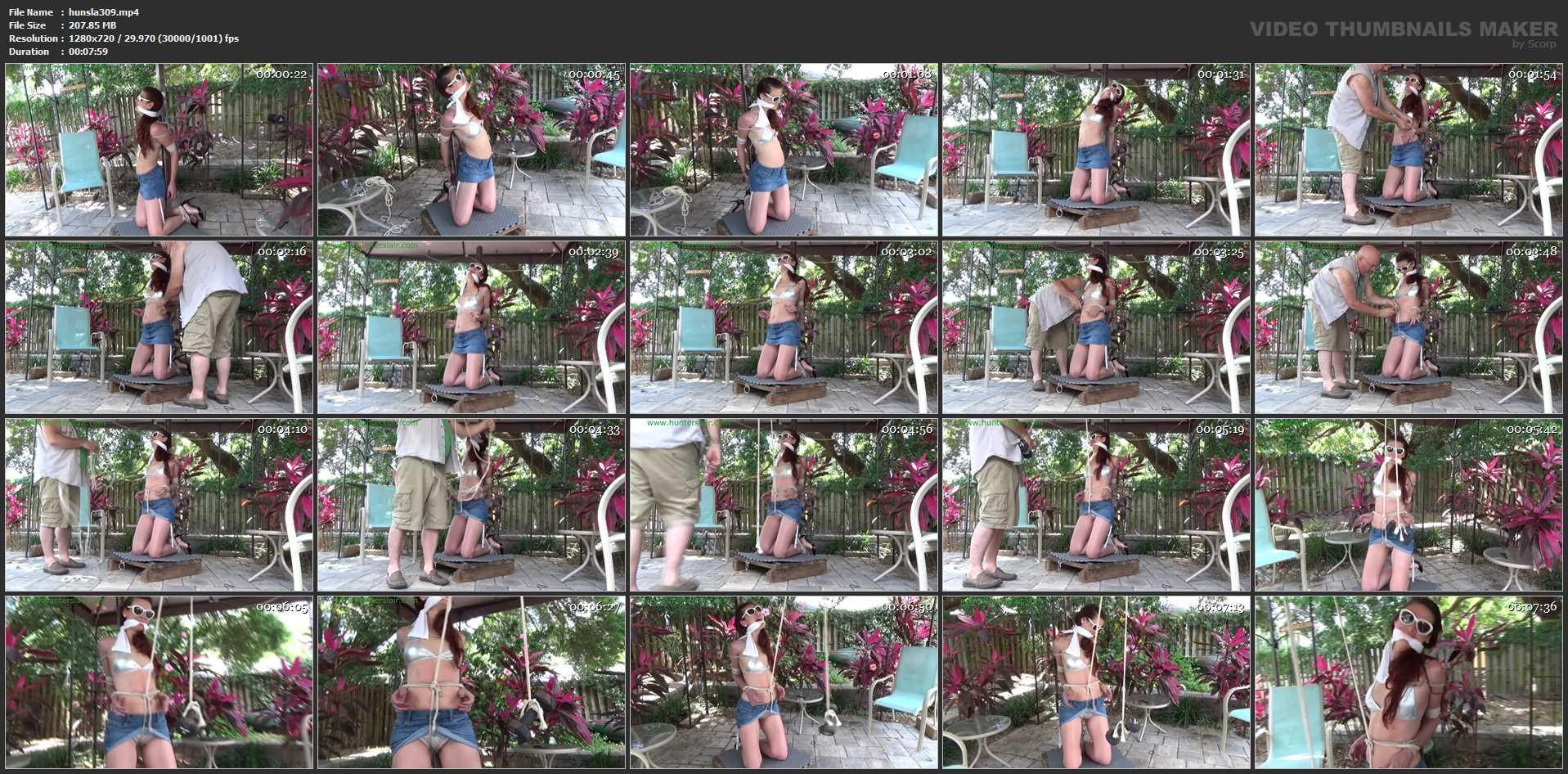 [HUNTERSLAIR] Cruel bondage predicament in the garden. Featuring: Ren Smolder [HD][720p][MP4]