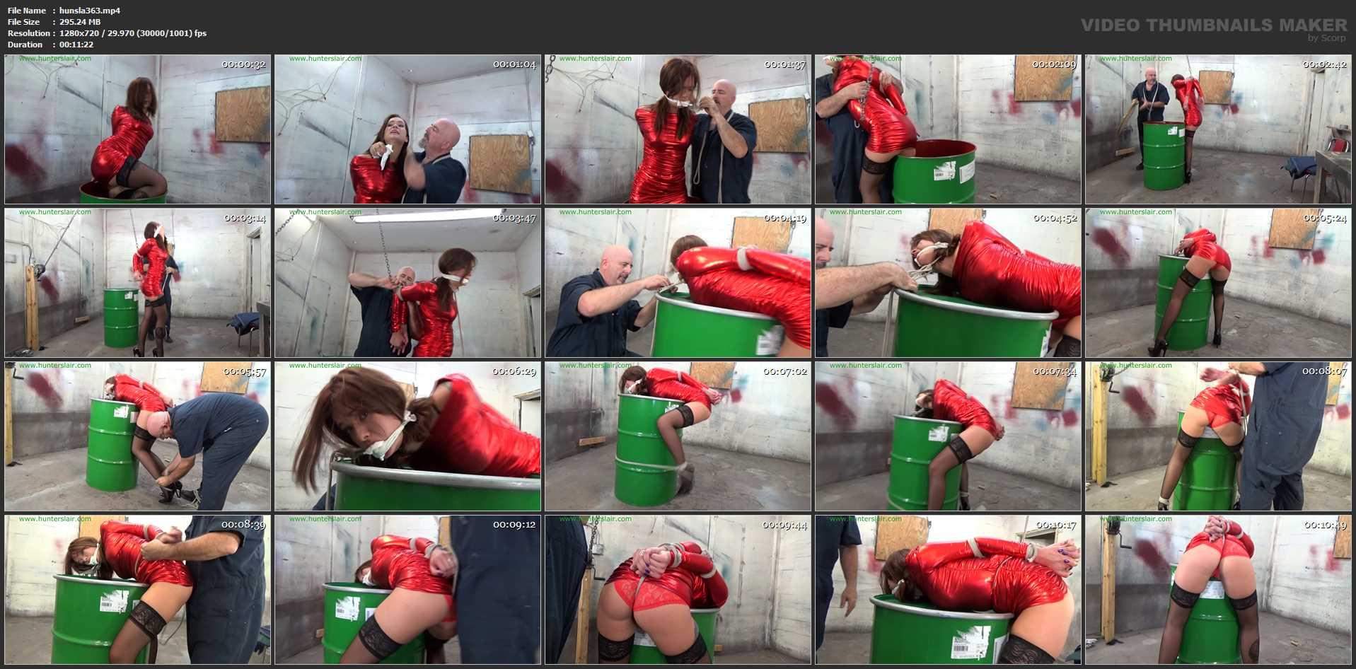 [HUNTERSLAIR] Helpless captive bound over a barrel. Featuring: Maria Marley [HD][720p][MP4]