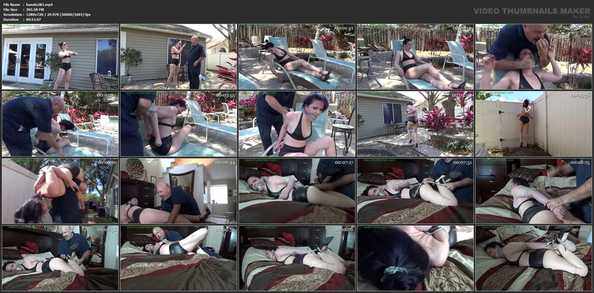 [HUNTERSLAIR] Haughty bikini clad prig overpowered by her handyman. Featuring: Caroline Pierce [HD][720p][MP4]
