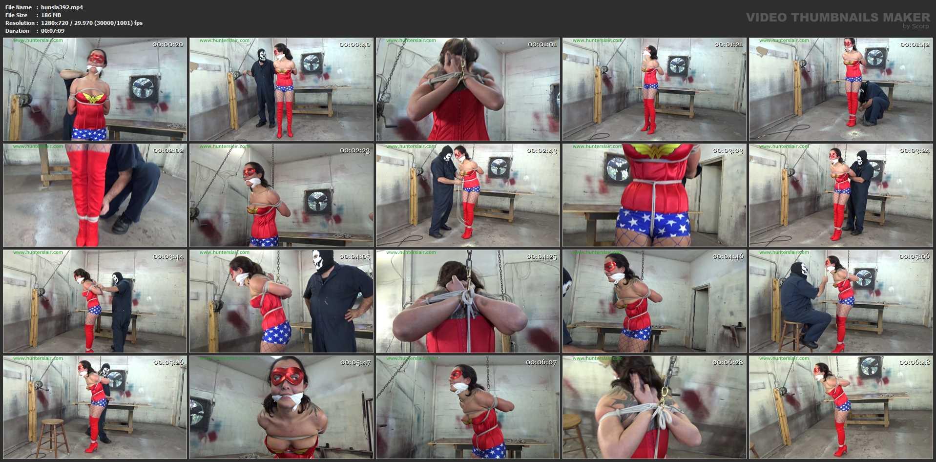 [HUNTERSLAIR] Wonder Broad Wrapped in rope. Featuring: Roxanne Rae [HD][720p][MP4]
