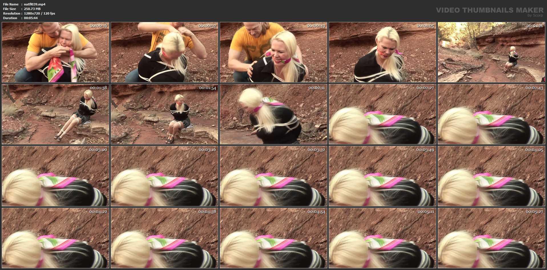 [DAMSEL STYLE BONDAGE & BONDAGE SEX VIDEOS] Secretary Kordelia K*idnapped & Double Gagged in the Woods. Featuring: Kordelia Devonshire [HD][720p][MP4]